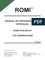 manual de operação romi  620 5x