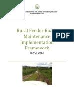 2013 Rfr Maintenance Implementation Framework Final July 2013