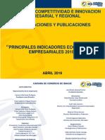 Principales Indicadores Económicos y Empresariales 2018