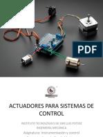 Actuadores de Control