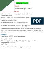 Calcul des limites