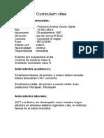 Cuuriculum Vitae Floro