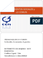Alba Carosio. Los movimientos sociales y lo común