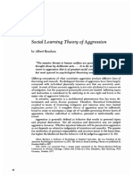 Social Learning Theory of Aggression