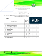 SECOND LAC Evaluation (July 2019) Engl. Dept.
