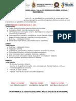 Planificacion General de Premilitar Año Escolar 2018-2019
