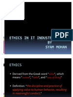 Ethics in It Industry