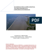 Consideraciones Generales Para El Diseño Conceptual Del Canal Navegable (12 Dic)