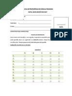 Exame Francês 2017
