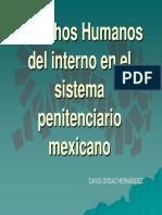 DERECHOS HUMANOS DEL INTERNO EN EL SISTEMA PENITENCIARIO MEXICANO