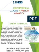 Tension Superficial Osmosis y Presion Osmotic