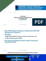 Prof Dedi - PMR Untuk Aseptic Processing