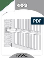 FAAC 402 manuale installatore