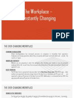 The Workplace – Constantly Changing