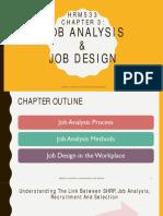 Chapter 3- Job Analysis & Job Design
