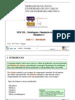 Modelagem e Simulação de Sistemas Dinâmicos I