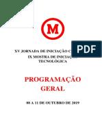 Programação Jornada 2019 Digital