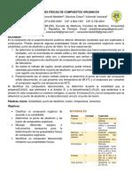 Lab#1 Propiedades Fisicas de Los Compuestos Organicos