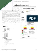 Paro Nacional en Ecuador de 2019 - Wikipedia, La Enciclopedia Libre