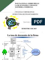 Estructura de Financiamiento Unab 2015 Sin Fondo