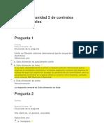 Evaluación Unidad 2 de Contratos Internacionales