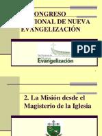 2. La Misión Desde El Magisterio de La Iglesia