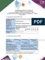 Guia de Actividades y Rubrica de Evaluacion Paso 2- Aproximacion Al Concepto de Mediacion Pedagogica