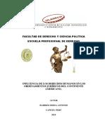 Derechos Humanos en Los Ordenamientos Jurídicos Del Continente Americano