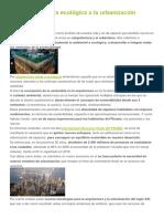 De La Arquitectura Ecológica a La Urbanización Sostenible