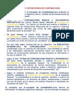 Concepto y Definiciones de Contabilidad