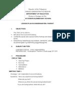 Cot Lesson Plan