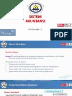 Presentasi - Sistem Akuntansi - Ch 1 - Sistem Akuntansi