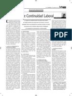Principio de Continuidad Laboral Autor José María Pacori Cari
