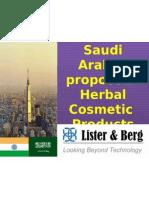 Saudi Arabia Herbal Cosmetic