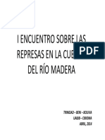 Encuentro sobre las represas en la cuenca del rió Madera