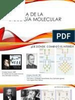 1 Historia de La Biología Molecular
