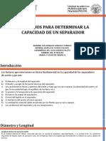 CRITERIOS PARA DETERMINAR LA CAPACIDAD DE UN SEPARADOR-MCP-LDGC.pptx