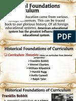 Historical Foundations of Curriculum