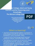 Miriam College E-learning