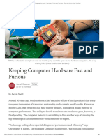 How to keep computer hardware fast