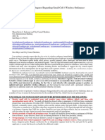 City of San Diego Letter 5G Wireless Ordinance Letter of Concern