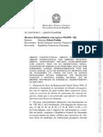 Stf- Tema 944 Parecer Pgr - Imunidade Estatal x Violação Direitos Humanos