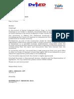 Work Immersion Letter