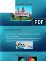 Introduction of Tourism