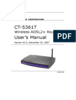 Manual Router Comtrend CT5361T_A3.3
