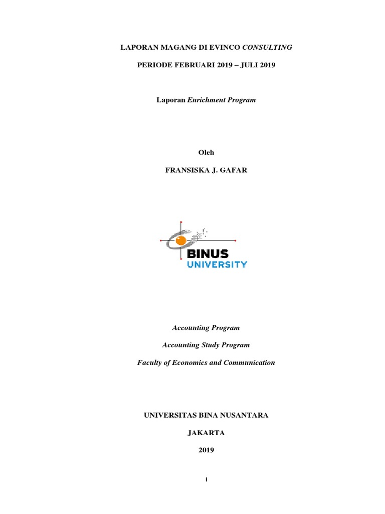 Laporan Keuangan Universitas Bina Nusantara Seputar Laporan