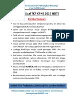 Soal Latihan Tkp Cpns 2019 Hots Paket 14