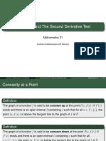 Math 21 Lec 2.6 Concavity and SDT (Slides)