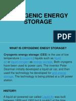 Cryogenic Energy Storage