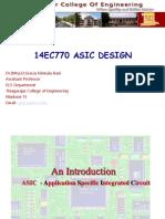 Asic Design Cadence Dr d Gracia Nirmala Rani